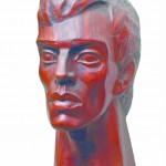 Boriss Pasternaks, dzējnieks, dzējnieks, 1969.g., sarkankoks, 70 x 46 x 42