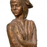 Igauņu dzejniece Vīvi Luika – 60-e. gadi, bronza. 41 x 70,5 х 42