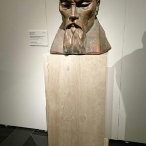 Скульптура Игоря Васильева на выставке «Николай Рерих и Латвия».
