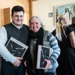 Ученик Игоря Васильева скульптор Гоча Хускивадзе и доктор искусствоведения Ингрида Буране.